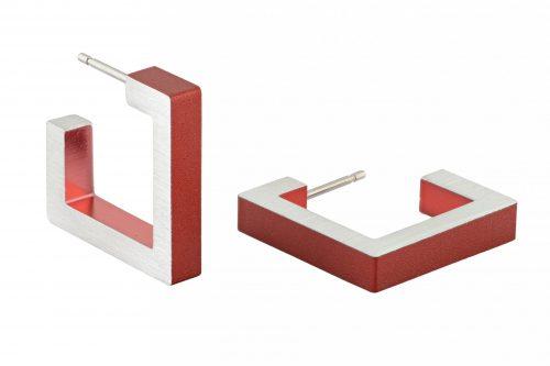 clic-creations_oorbellen__aluminium_mat_rood_dejavu