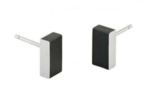 clic-creations_oorbellen__aluminium_zwart-rechthoek_dejavu